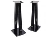 Norstone Walk Stand soportes de altavoz en acabado negro brillo y 77 cms de altu